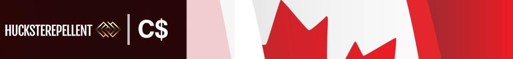 canada banner huckster repellent logo